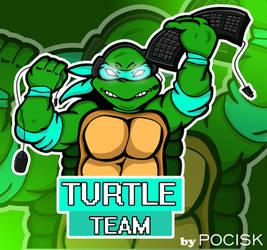 Turtle Team mascot logo