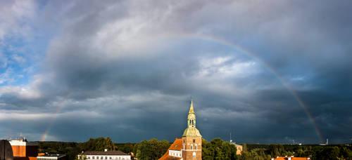 Latvia, Valmiera St. Simons church by SergeyZubov