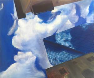 Blue skyscraper by Ciryu