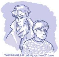 Sherlock and Watson by TheDoubleB