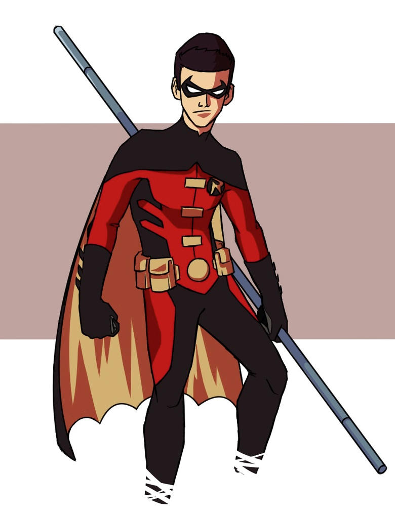Awesome Robin (Tim Drake) art : youngjustice |Young Justice Tim Drake Red Robin