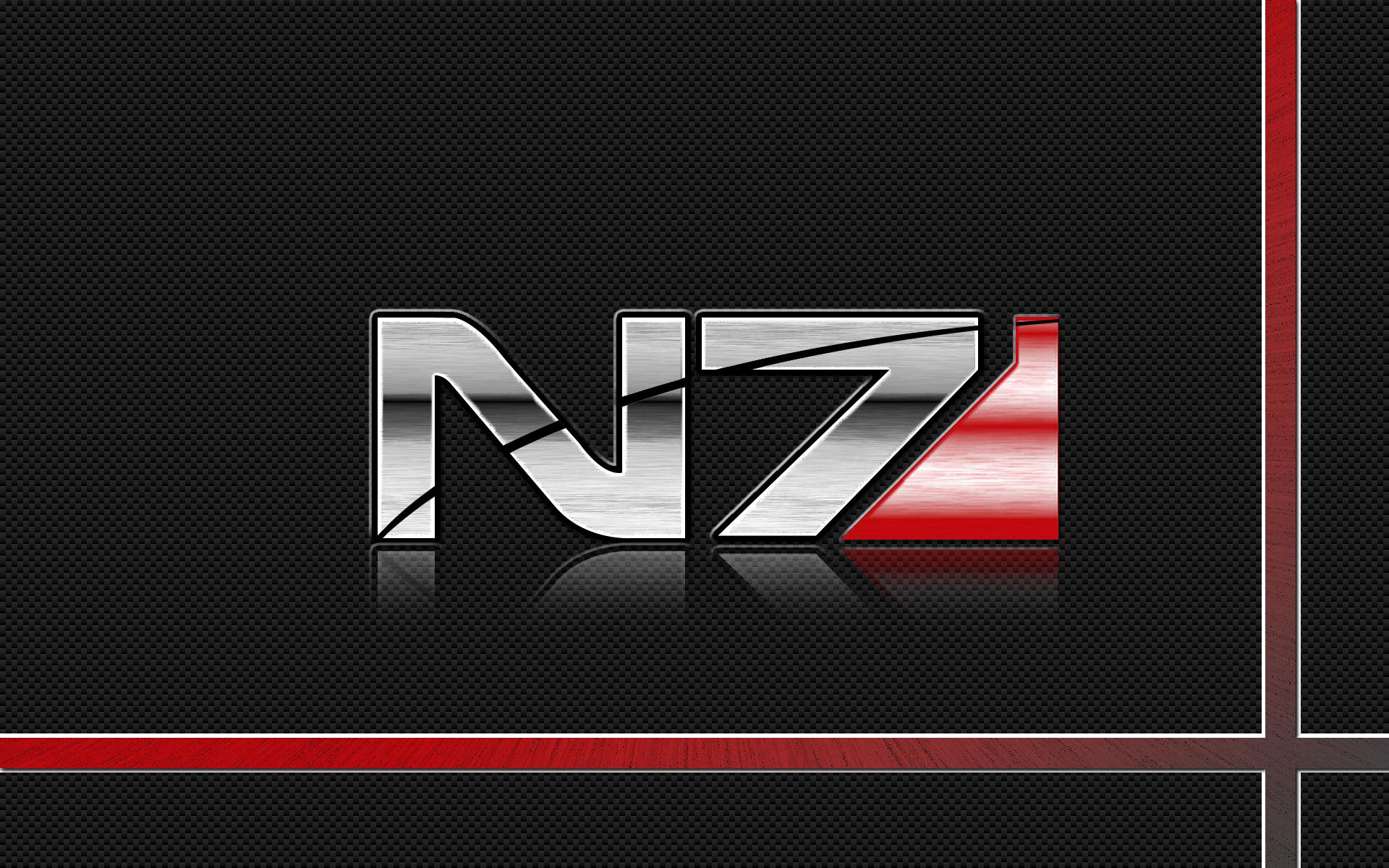 Mass Effect N7 Logo Wallpaper by pyrogx2000 on DeviantArt