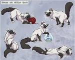 Birman Cat stickers-comission by Nothofagus-obliqua