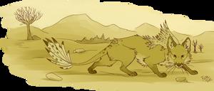 sketchtrade: Featherfox by Nothofagus-obliqua