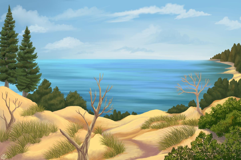 Sand Dunes, lake Superior by Nothofagus-obliqua