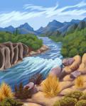 Steppe river
