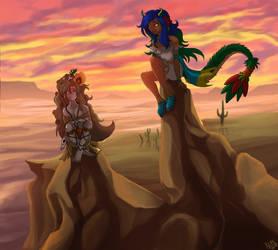 Godesses at the desert