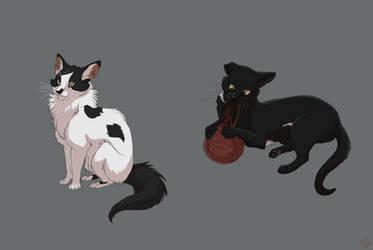 Good Kitties (commission) by Nothofagus-obliqua