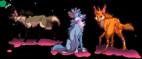 Maned wolffos- species swap