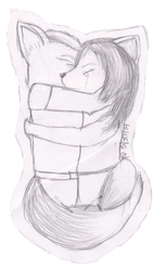 Hold You In My Arms - Fox and Krystal by xAngelVixenx