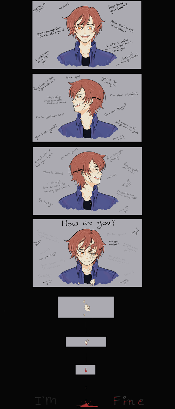 I'm Fine (Comic Strip) by Tsukiakari-Aya