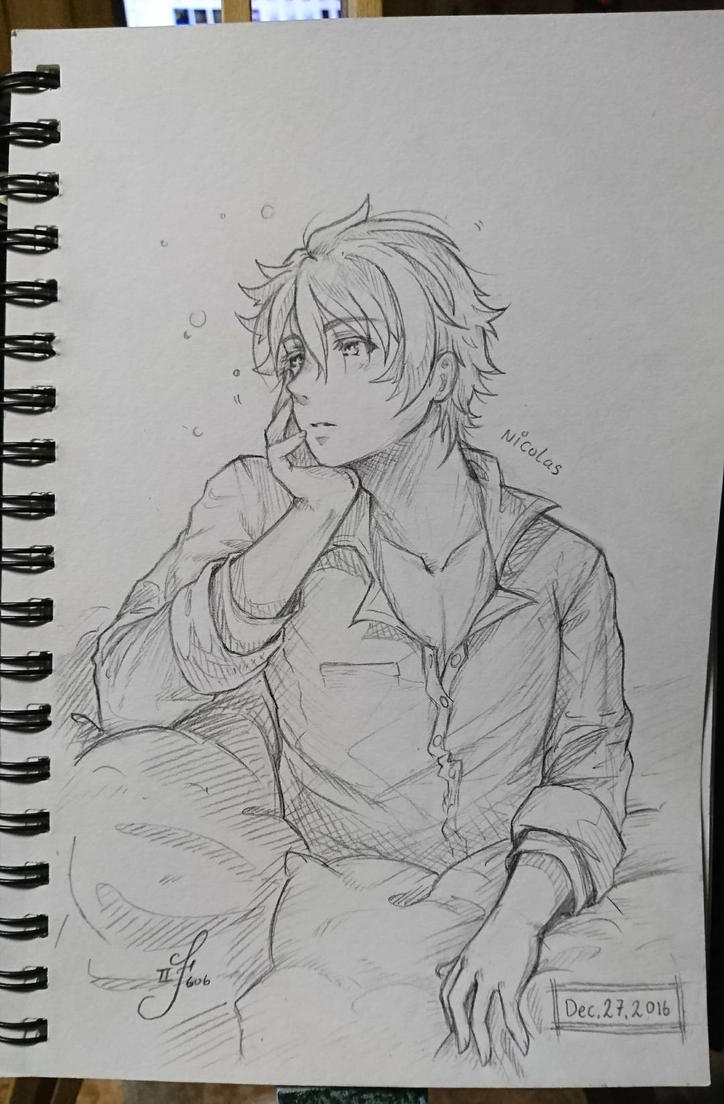 Sleepless Night [OC Sketch]  by Tsukiakari-Aya