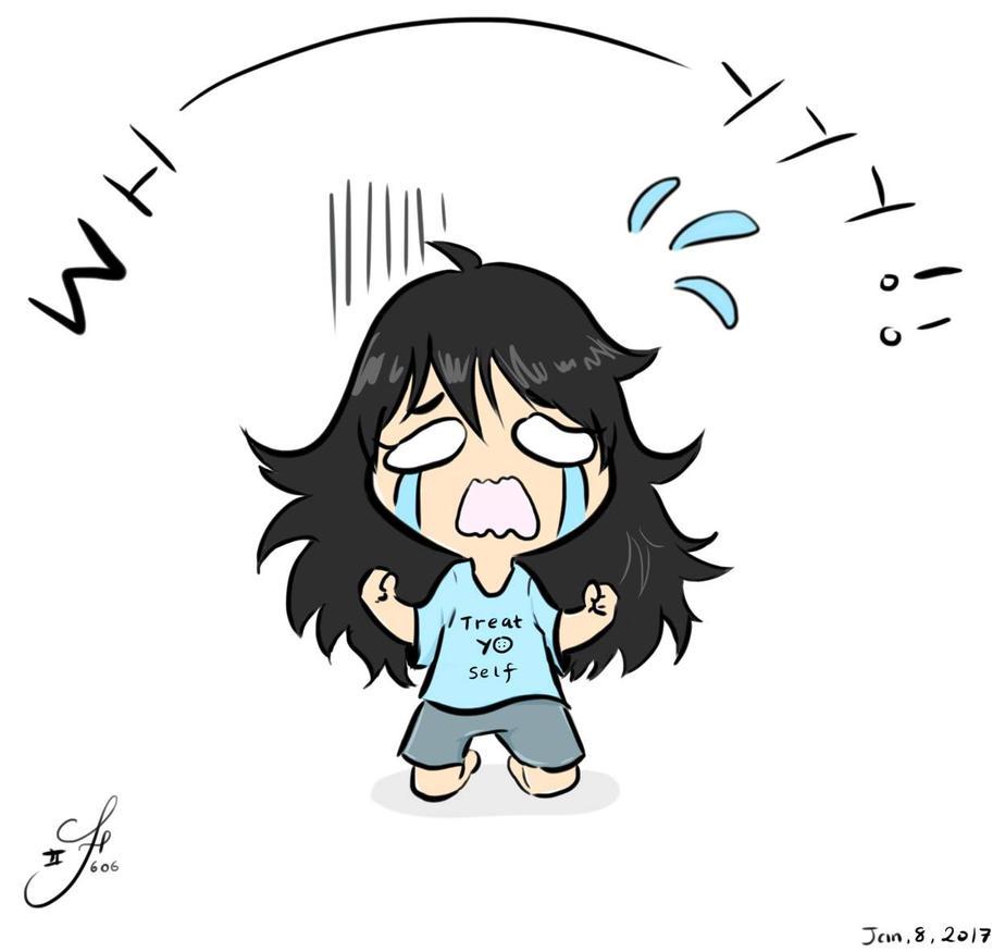 Why me!?! [Art vent]  by Tsukiakari-Aya