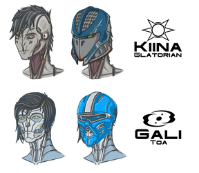 Kiina and Gali busts by Mekrani