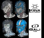 Kiina and Gali busts