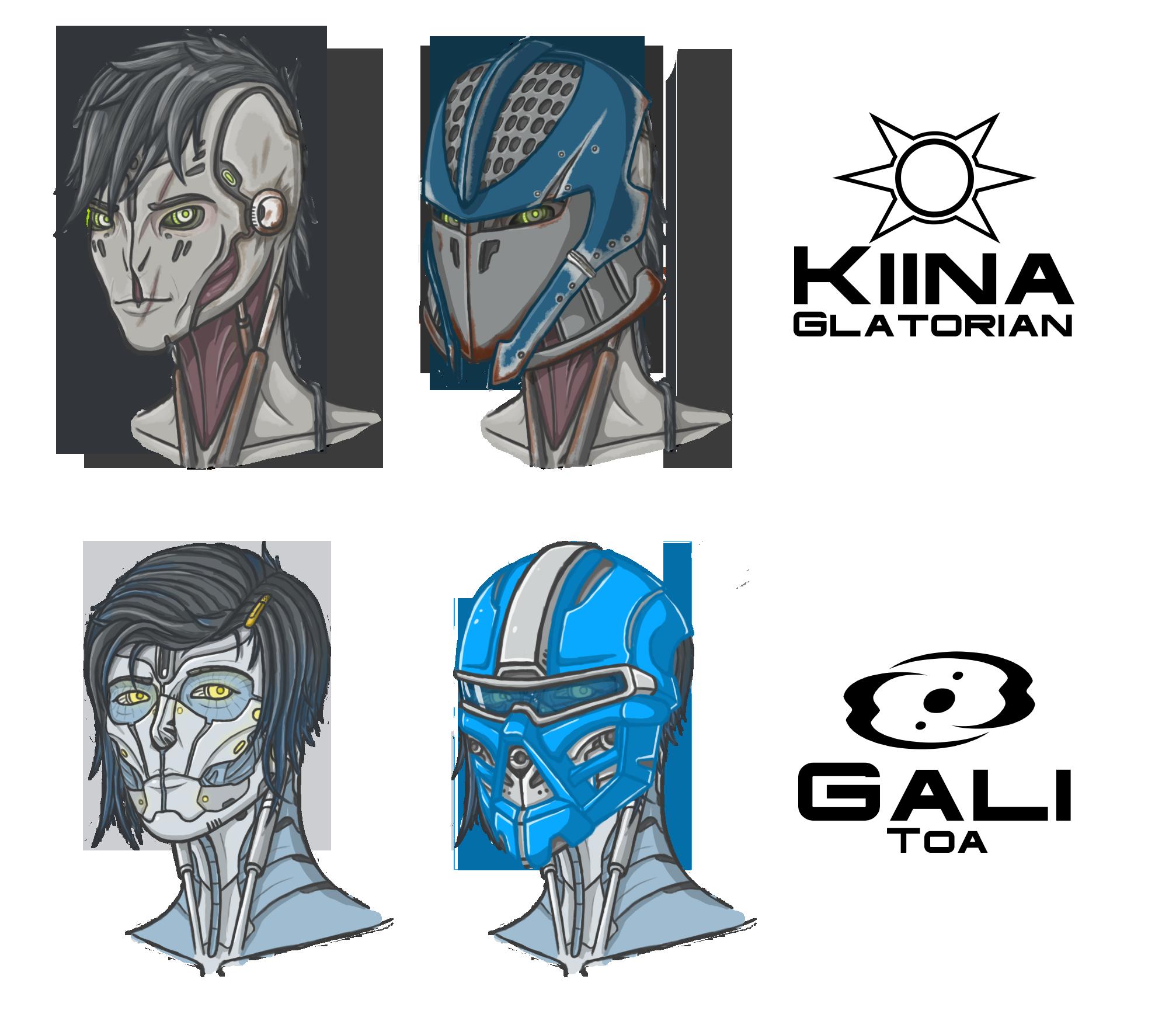 Kiina and Gali busts by Mekrani