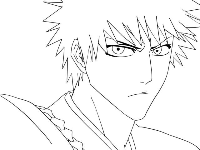 Bleach Ichigo Line Art By Angelprincess33 On DeviantArt