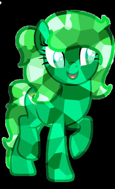 Crystal Pony Emerald Rose by CelesKumaEnoshima