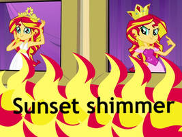 Human Sunset Shimmer Wallpaper by Yitsune-Melody