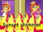 Human Sunset Shimmer Wallpaper