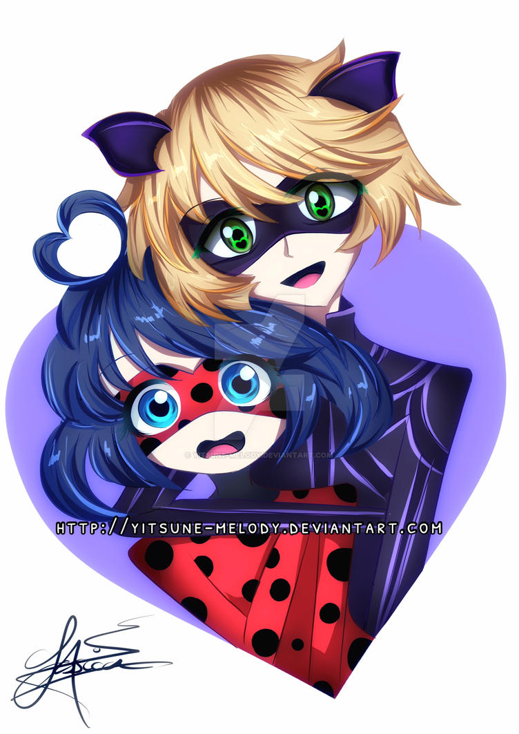 Miraculous Ladybug and Chat Noir by Yitsune-Melody