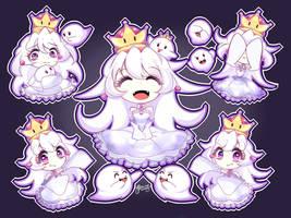 [+SPEEDPAINT] Booette (Queen Boo)| King Boo by Yitsune-Melody
