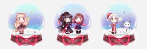 YCH Christmas Chibi Snowglobes [BATCH #1] by Yitsune-Melody