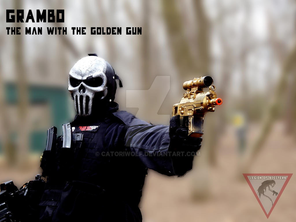Grambo Photo Shoot - The Man With The Golden Gun by CatoriWolf