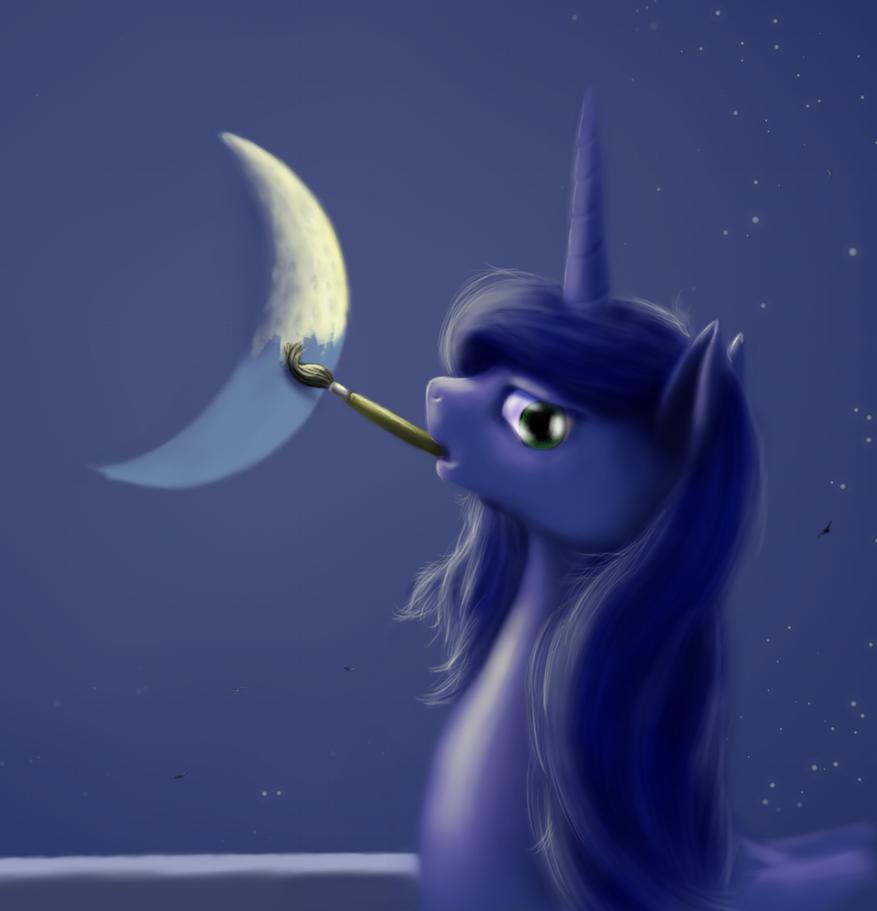 New moon by grayma1k