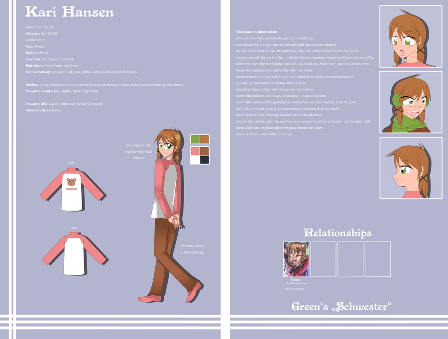 Charactersheet - Kari by AimaiLeafy
