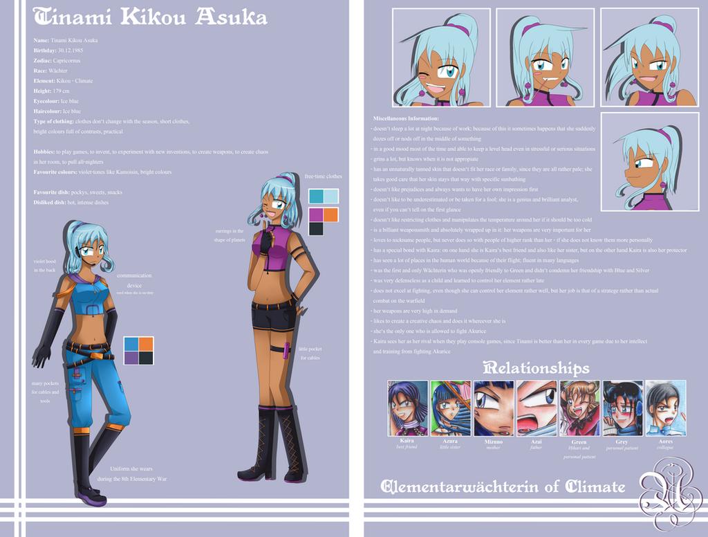 Charactersheet - Tinami by AimaiLeafy