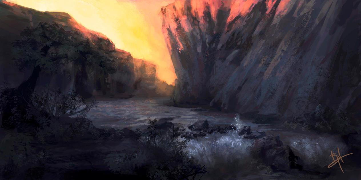 River Gully by MyNameIsByron