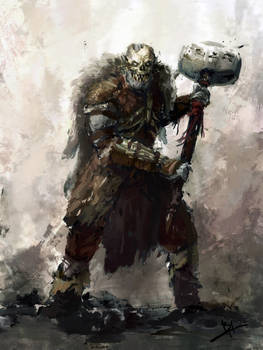 Grey Orc - Speed Painting