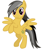 Daring Do on hind legs by DolphinFox