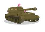 Pinkie and Rose driving 2S3 ''Akatsiya''
