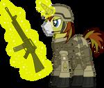 First Sergeant Allen Sparkle (in profile)