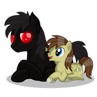 Now you're my friend, Shadowmere! by DolphinFox