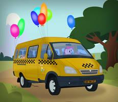 Pinkie Pie driving GAZ-322132 ''Gazelle''