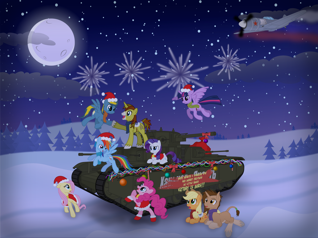 Happy new year my little ponies! Victory is ours! by DolphinFox