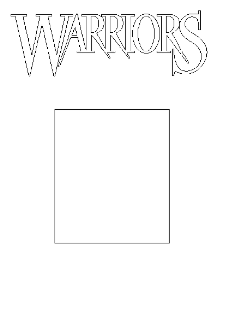 Book Cover Drawing Examples : Warriors book cover template by mattlancer on deviantart