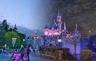 Day and Night at Sleeping Beauty's Castle