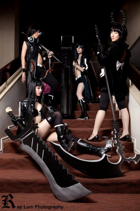 Black Rock Shooter cosplay group by Karumen-Chan