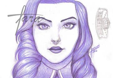 Elizabeth Bioshock - Esfero azul