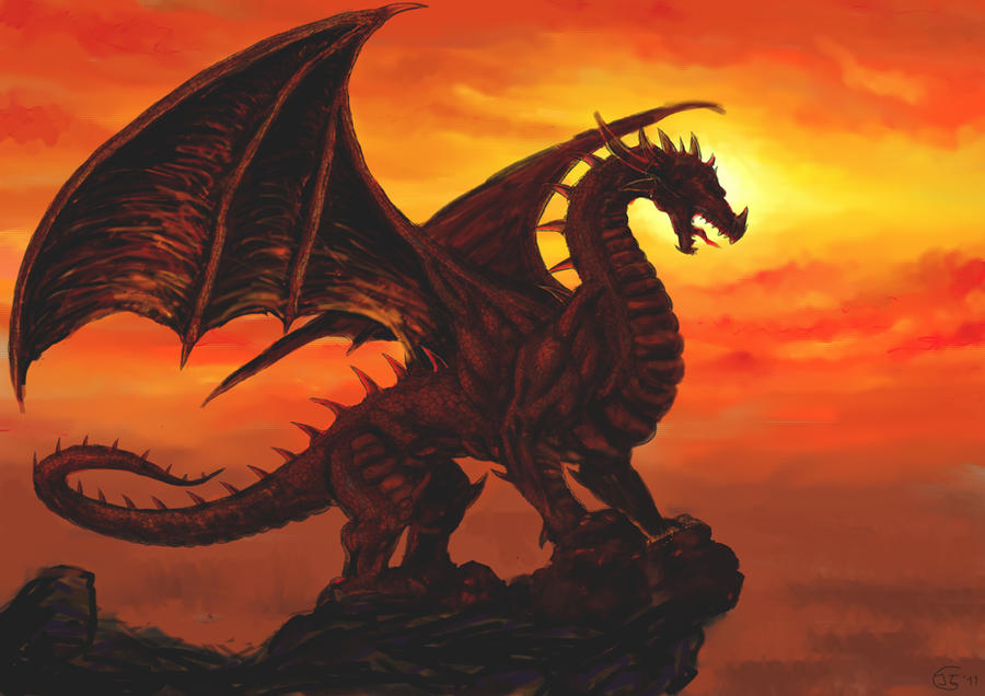 Sunset of Dragon by Moon-DragonStudio on DeviantArt |Dragons And Sunsets