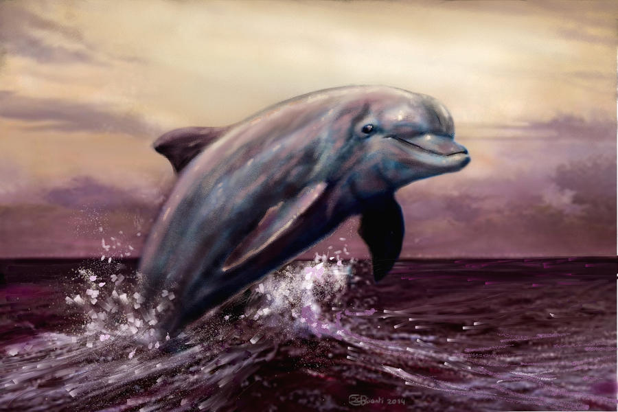 Dolphin speedpaint by Bisanti