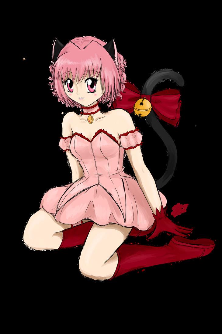 Sitting Kitty by PinkStrawberryKitty