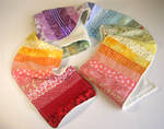 Rainbow patchwork scarf