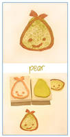 Citrus stamps - Peter Pear by restlesswillow
