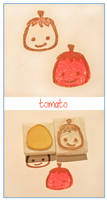 Citrus stamps - Tony Tomato by restlesswillow