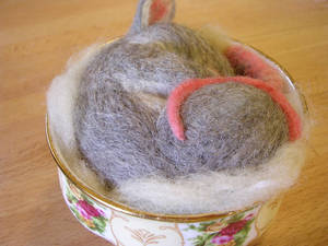 Needle felted mouse 3